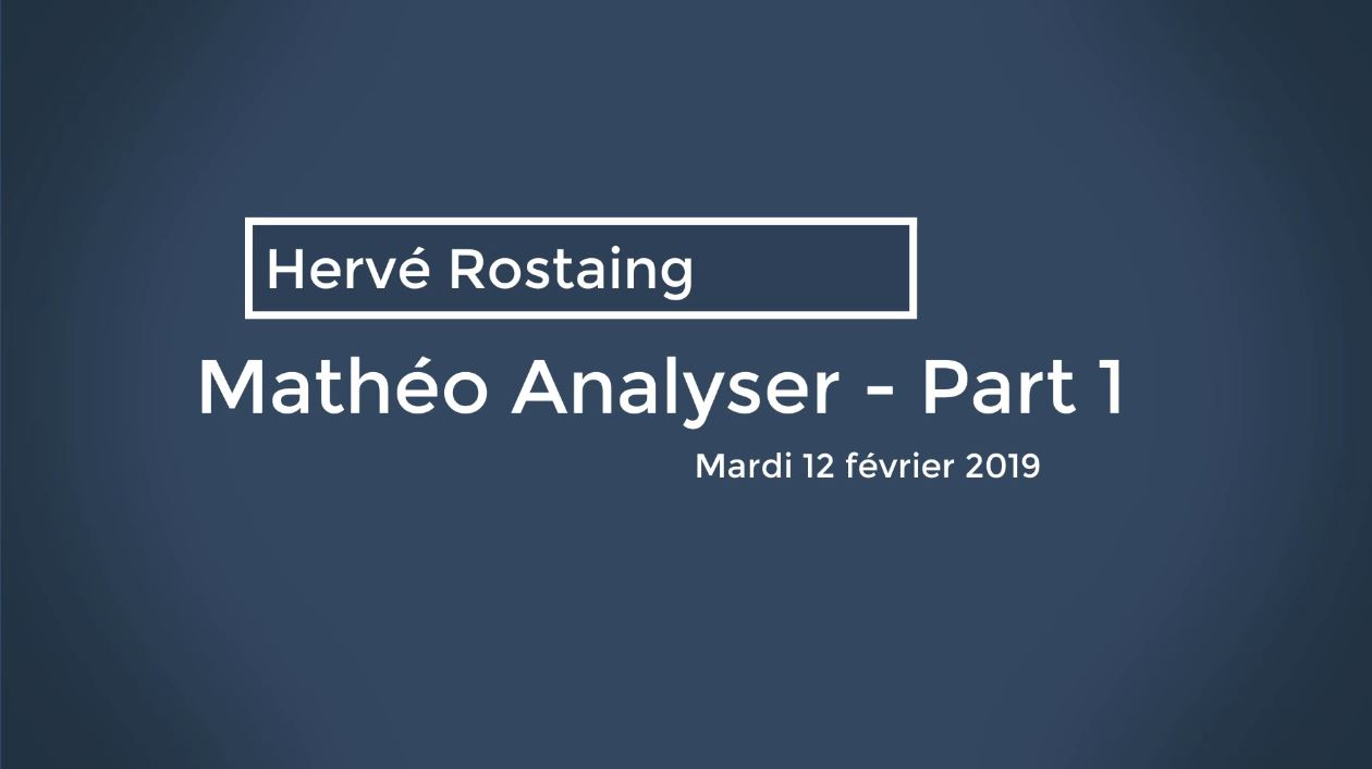 Matheo Analyser Part 1