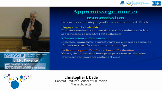 Christopher J. Dede - Immersive learning as an opportunity for creativity and innovation