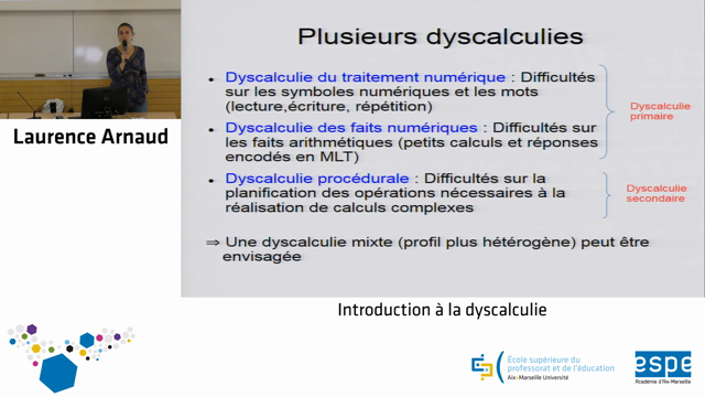 Une introduction à la dyscalculie – Laurence Arnaud