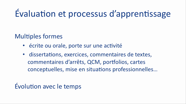 Modèles de l'évaluation introduction