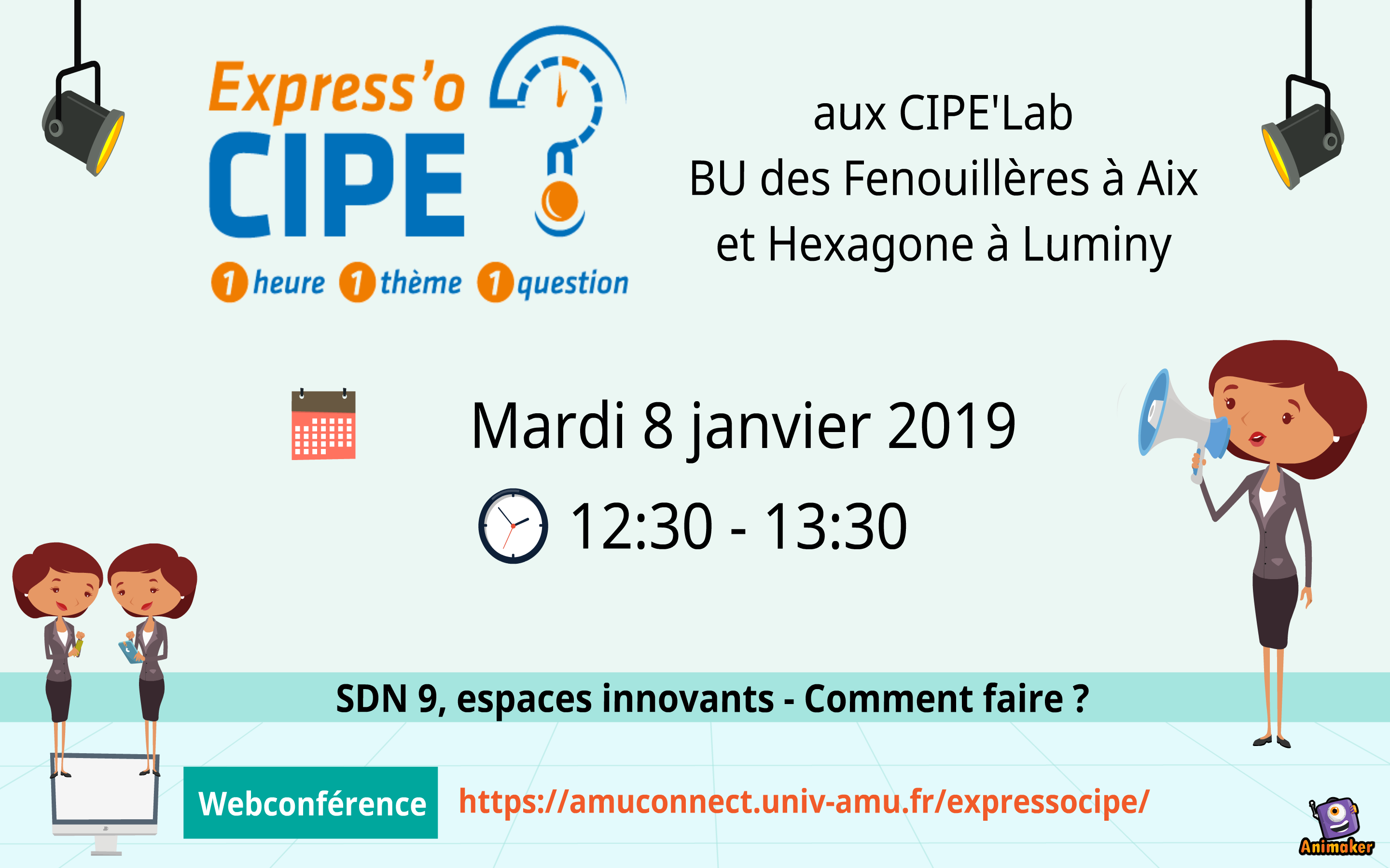 Express'o CIPE #005 (teaser) - Espaces innovants, SDN 9 : comment faire ?